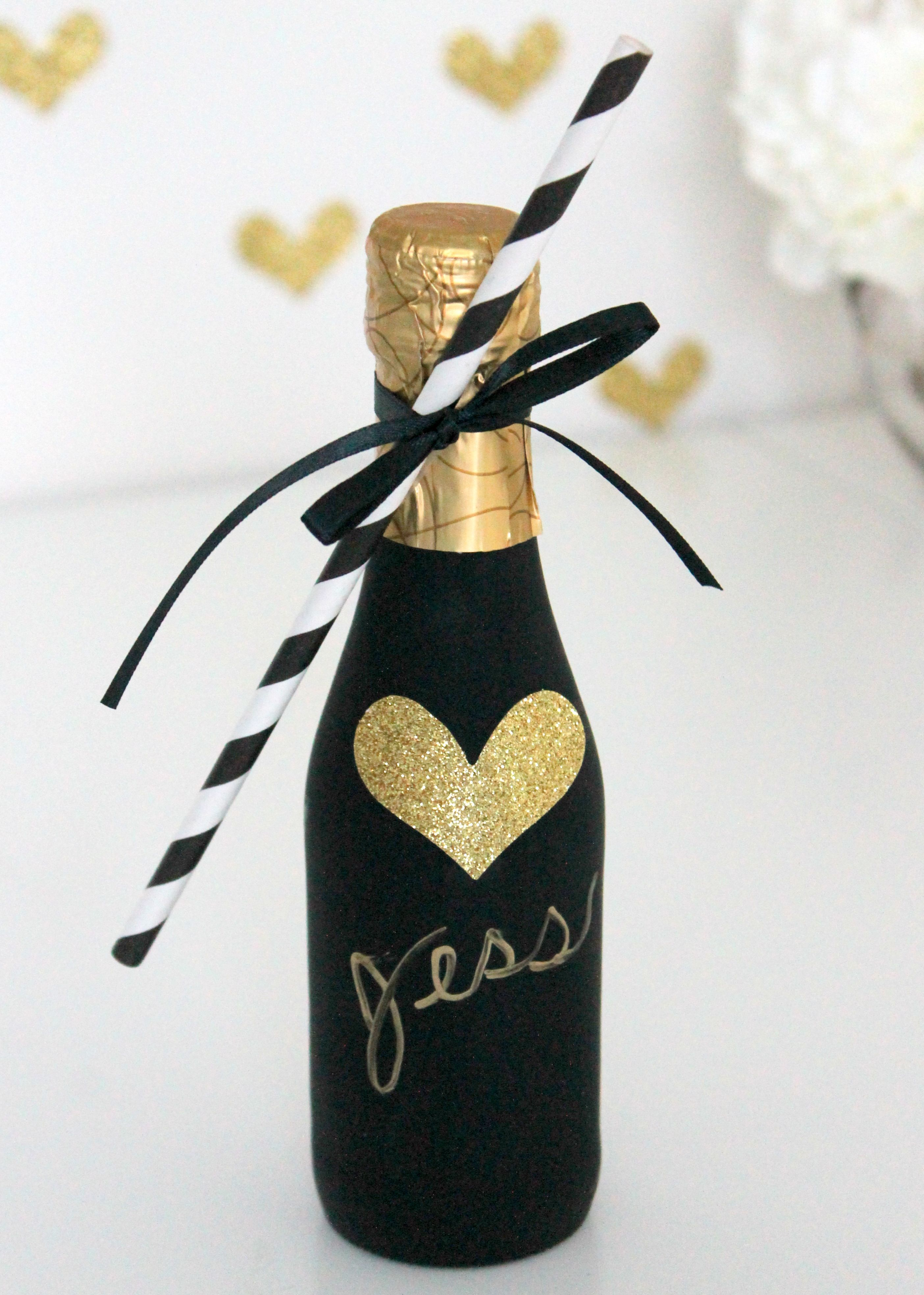 DIY Champagne Favor | Champagne, Favors and Bridal showers