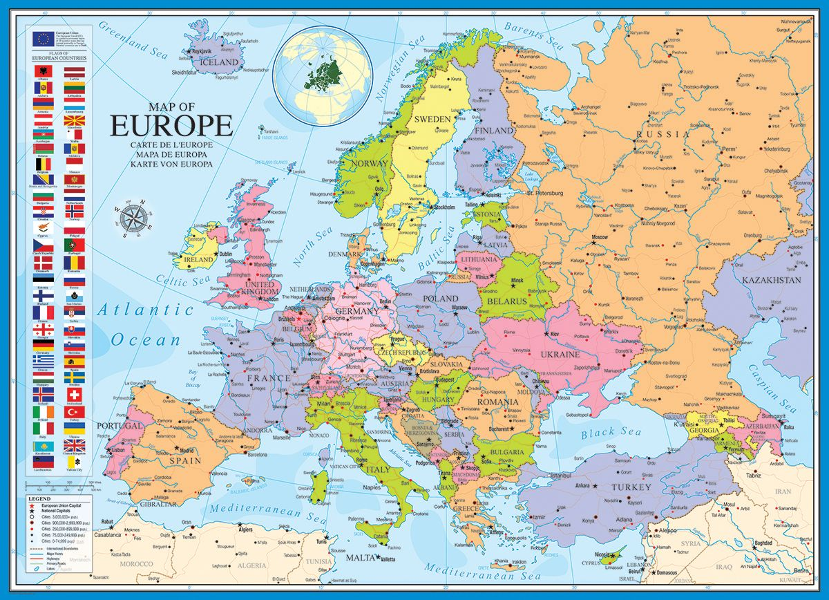 New Map Of Europe Pieces