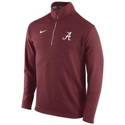 Mens Alabama Crimson Tide Nike Crimson Football Coaches Sideline Half Zip  Knit Performance Jacket