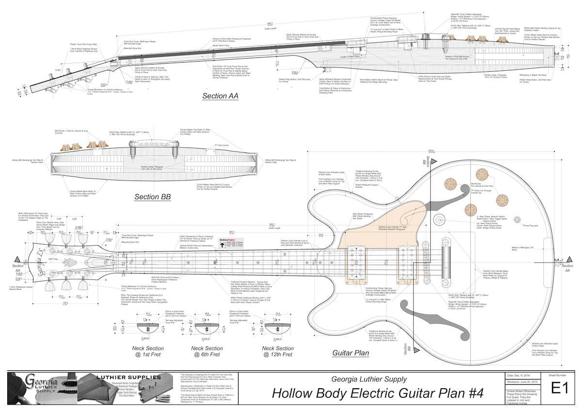 hollow body electric guitar plan 4 electronic version guitars in 2019 electro acoustic. Black Bedroom Furniture Sets. Home Design Ideas
