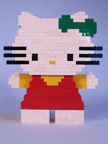 Hello Kitty A Lego Creation By Philippe Moisan Mocpagescom