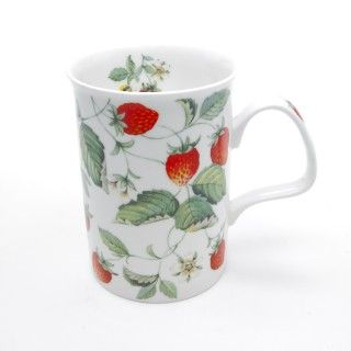 Alpine Strawberry Quot Lancaster Quot Fine Bone China Mug Lovely