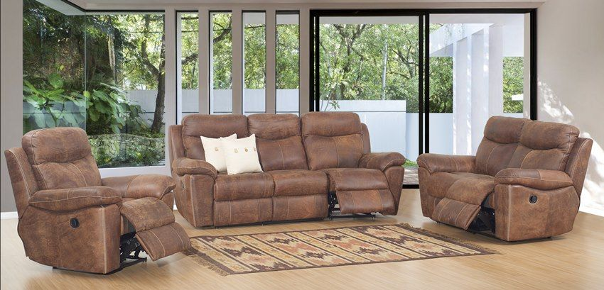 Buffalo Leather Reclining Living Room