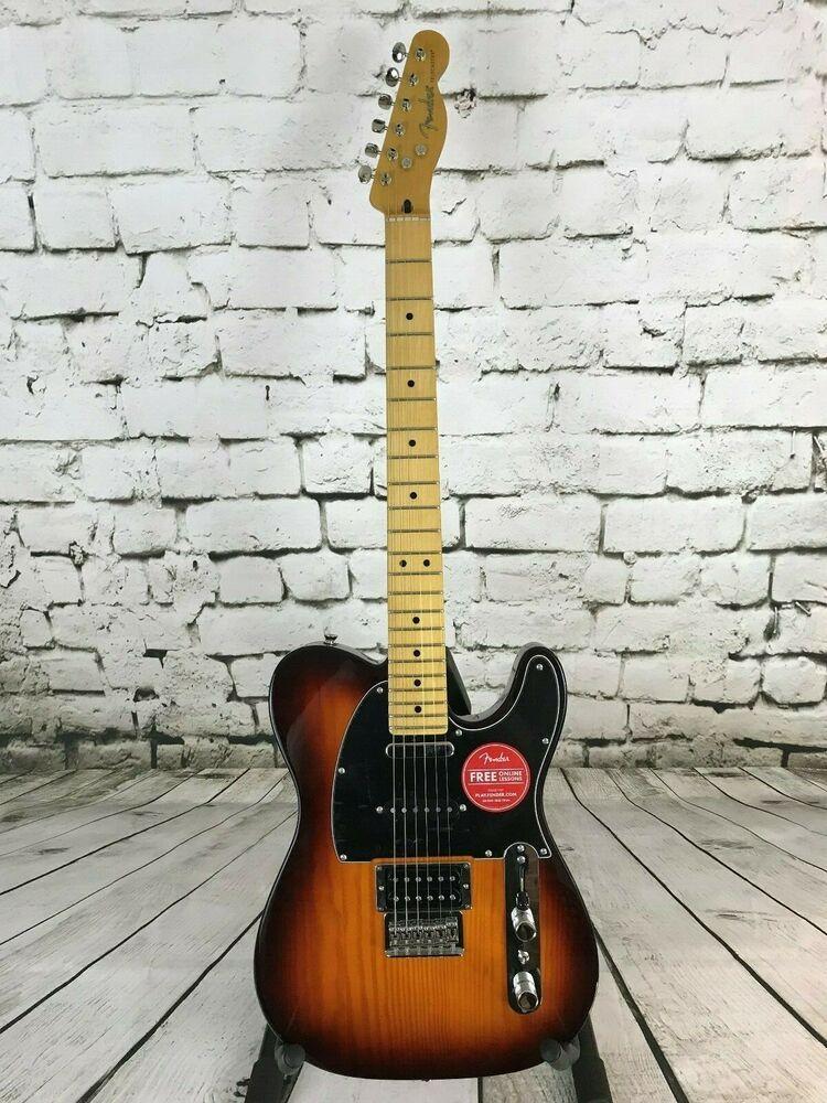 Fender Modern Player Telecaster Plus Honey Burst Telecaster Acoustic Guitar Case Fender Telecaster