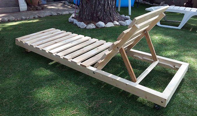 Tumbona pales pinteres - Chaise longue en palette bois ...