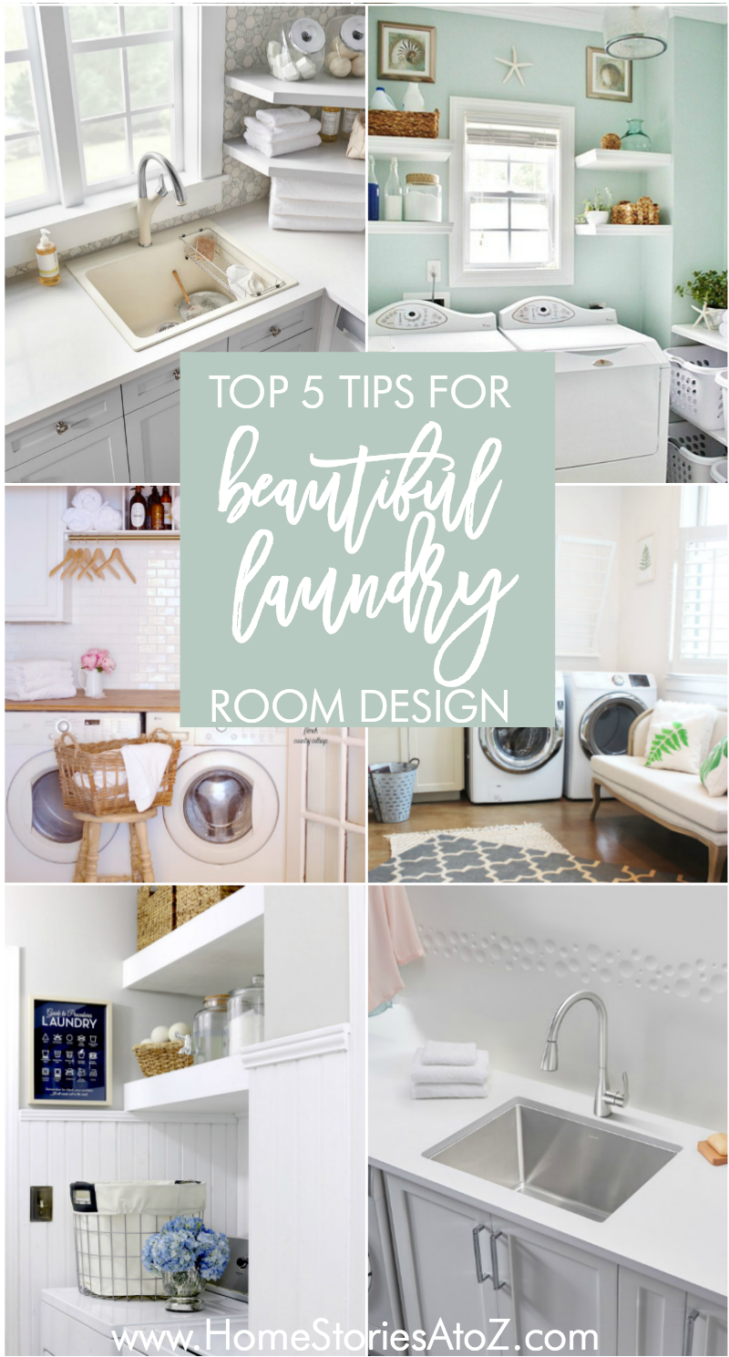 Next laundry room gets a sink put in! Great tips on creating a beautiful  laundry