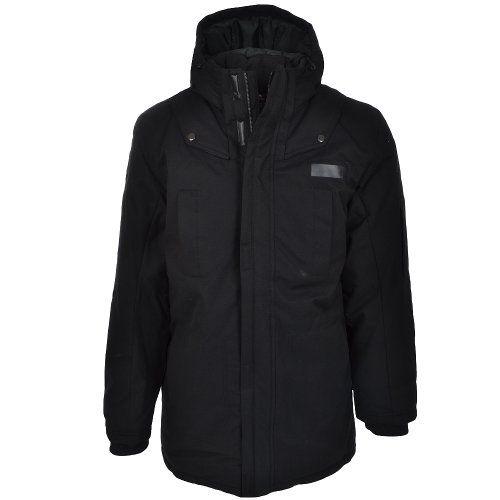Adidas Mens Black Winter Cargo Parka Jacket Coat « Impulse Clothes ...