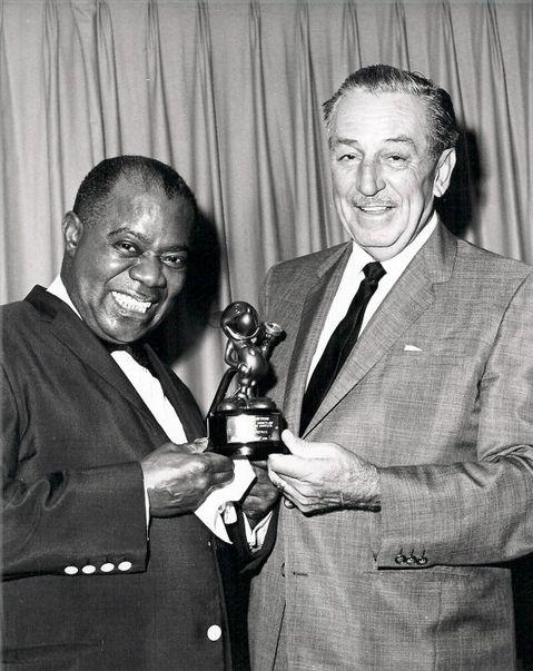 Louis Armstrong And Walt Disney Walt Disney Walter Elias Disney
