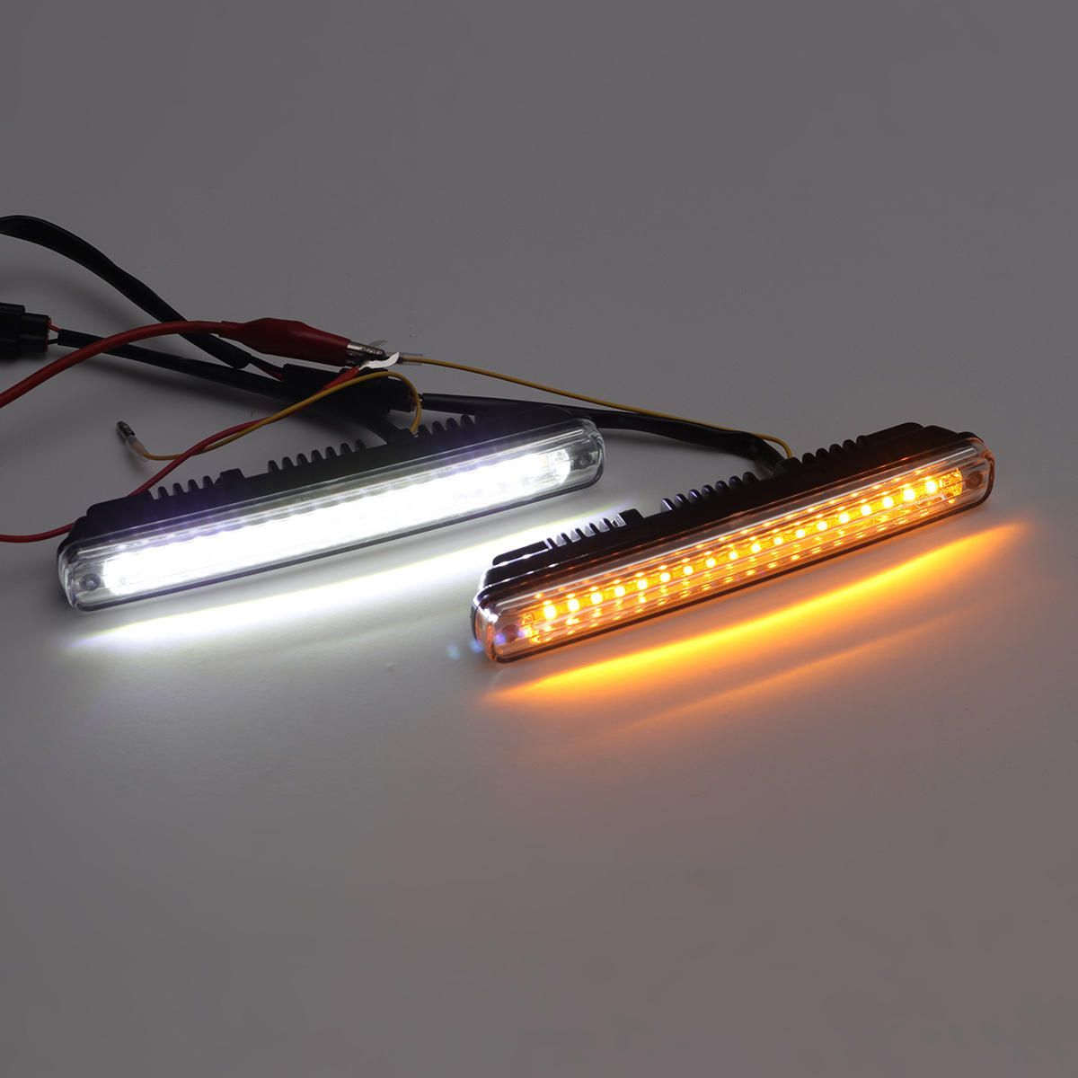 36 Led Dual Color Car Daytime Running Lights Drl Lamps Universal White Amber Car Lights From Automobiles Motorcycles On Banggood Com Running Lights Car Led Lights Car Lights