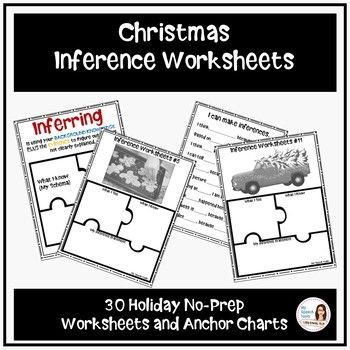Christmas No Prep Inference Worksheets December Speech Therapy Ideas
