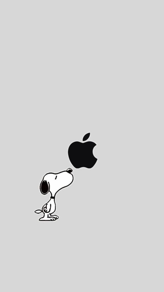 Appleとスヌーピーロック画面壁紙