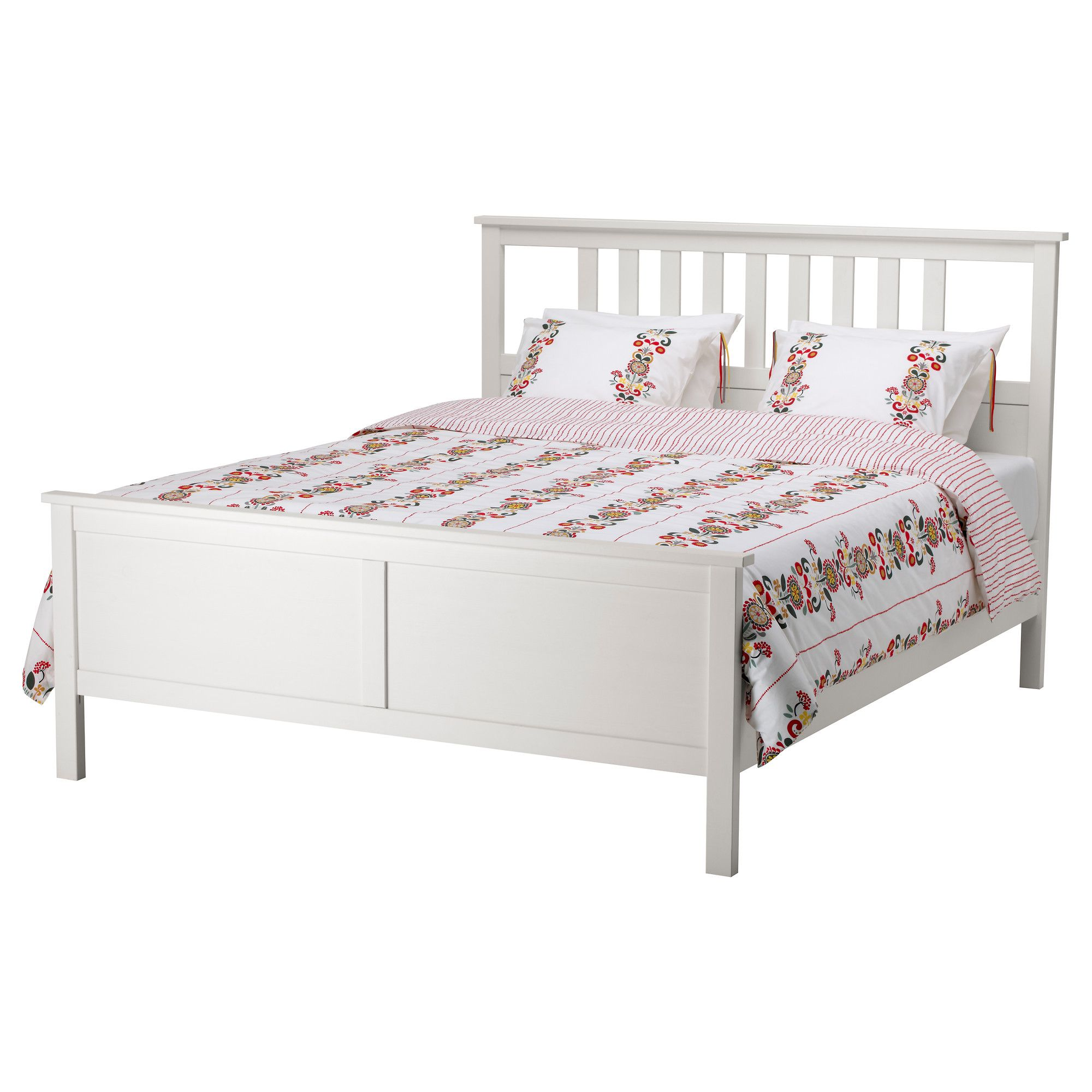 hemnes bed frame white stain lur y 140x200 cm hemnes. Black Bedroom Furniture Sets. Home Design Ideas