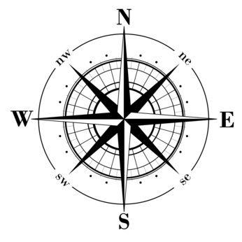 Diy Mariner S Compass Rose Medallion On Concrete Floor Mariner