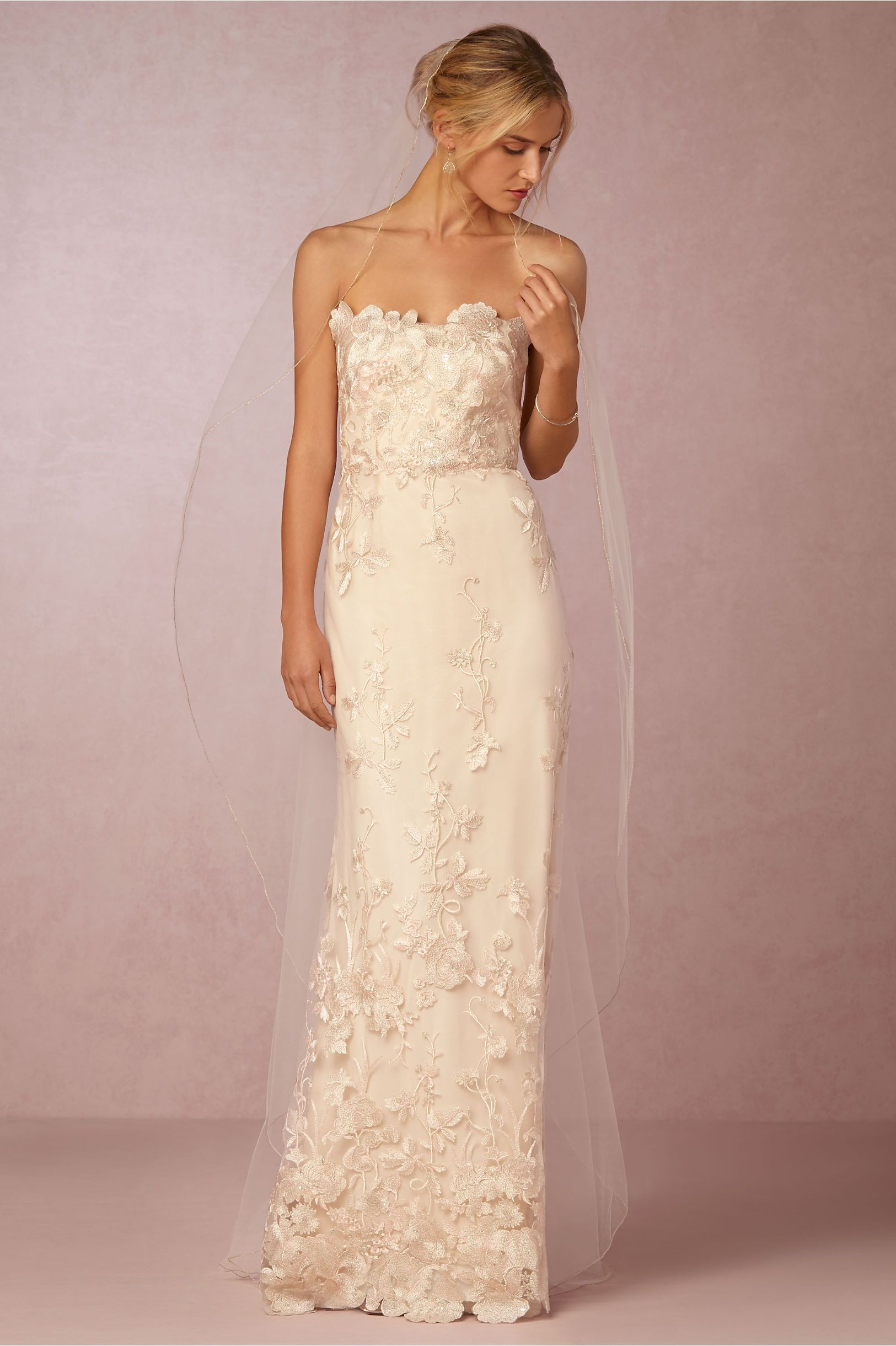 BHLDN Stardust Sky Veil Ivory in Shoes & Accessories | BHLDN ...