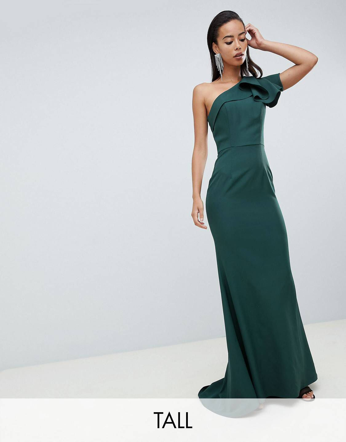 Just When I Thought I Didn T Need Something New From Asos I Kinda Do Jarlo Dresses Long Green Dress Clothing For Tall Women [ 1436 x 1125 Pixel ]