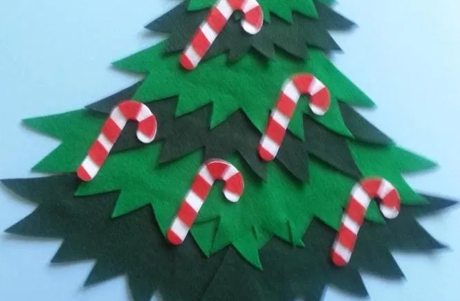 Five Candy Canes Hanging on the Tree in 2020 Christmas