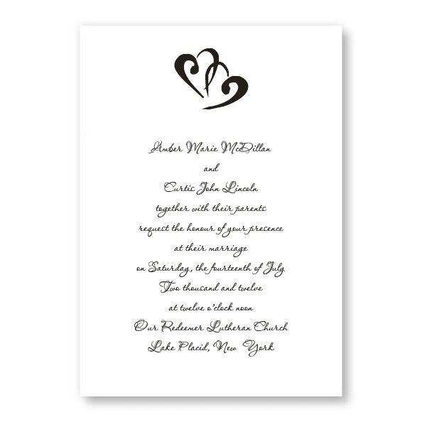 Rectangle Marvelous Motif Wedding Invitations The American