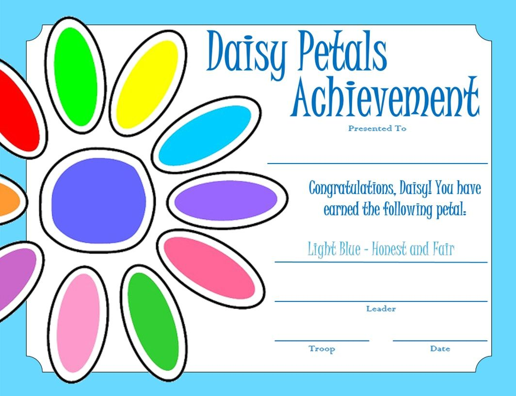 45 best scout daisy certificates images on pinterest