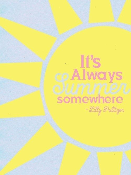 Its Always Summer Somewhere   Lily Pulitzer