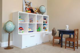 iGriza: Weekend Project: DIY Pottery Barn Kids Toy Shelves
