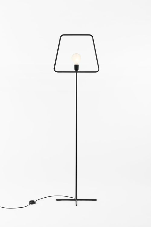 Barcelona based designer Adolfo Abejon created this simple and witty lamp, aptly called Slim. Constructed from an iron pipe, the piece resembles the shape of the traditional post-and-shade lamp. The familiar form is stripped down to its mere outline, making Slim a minimalist version of the timeless classic. Abejon explains: