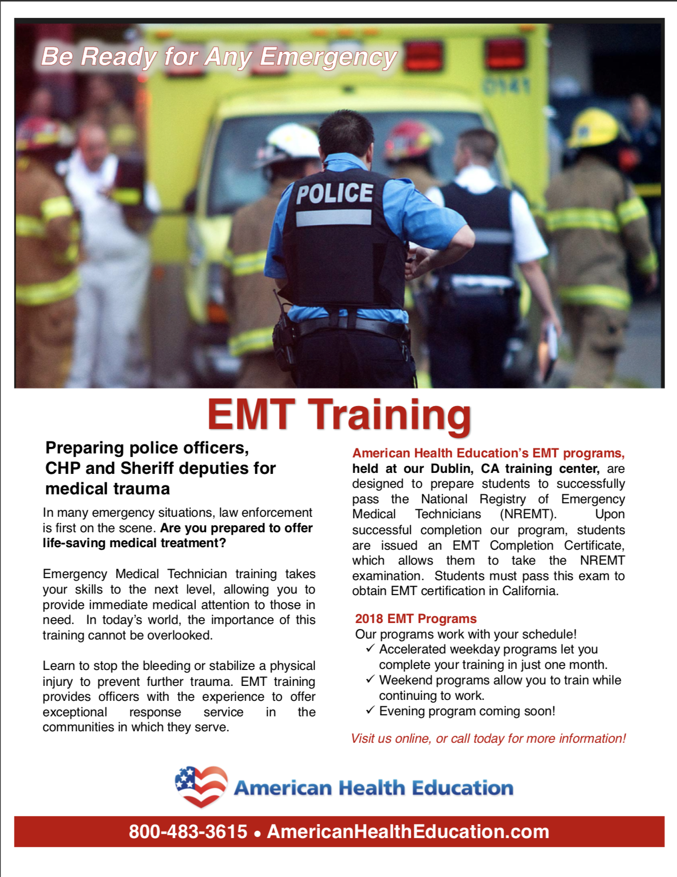 Pin By American Health Education On Become An Emt Pinterest Law