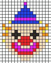 Hama Beads Pagliaccio Pixel Art Attivita Del Carnevale