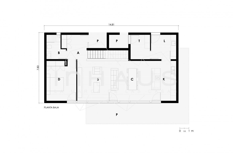 casa prefabricada de hormigon modelo2.245 Godella planta baja