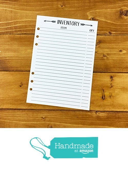 A5 Inventory printed planner insert - stock quantity - shop