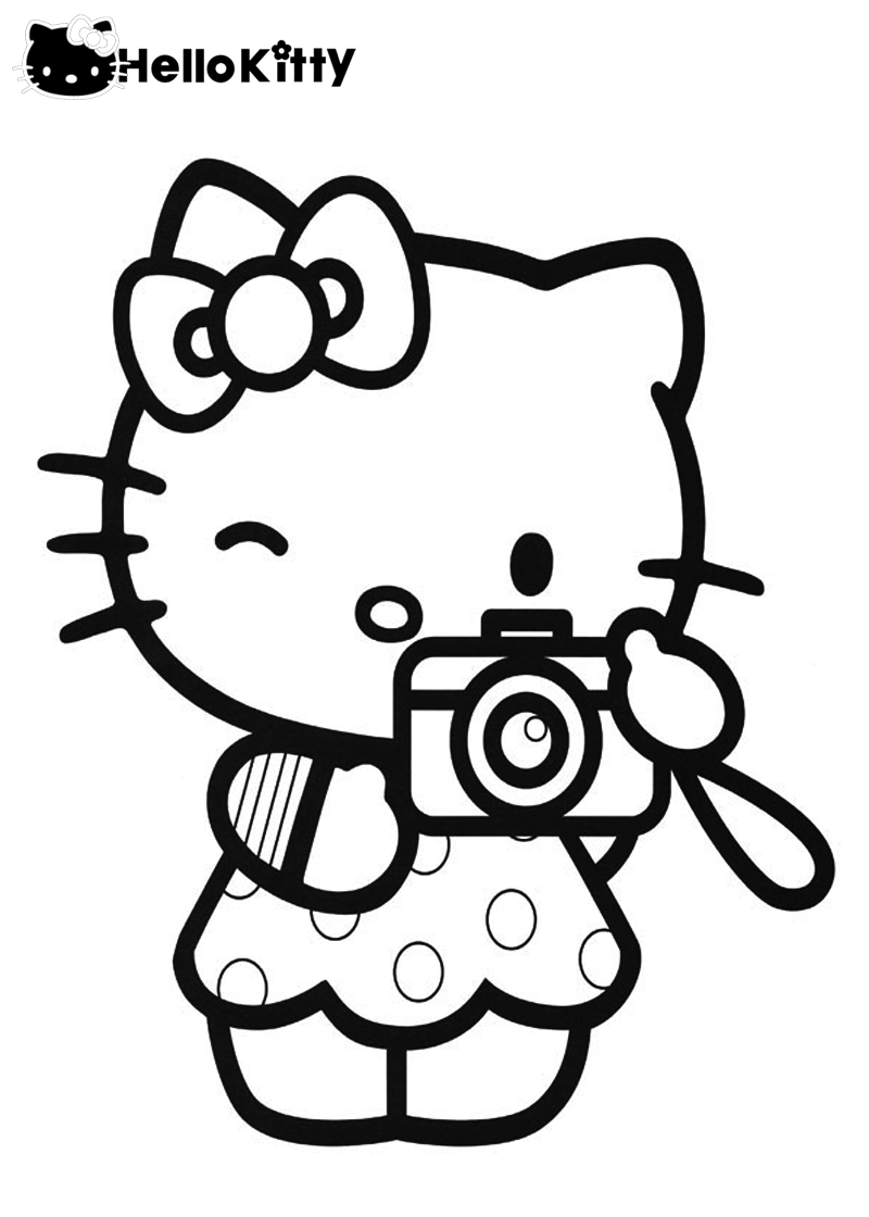 Hello Kitty And Teddy Bear Coloring Pages Printable