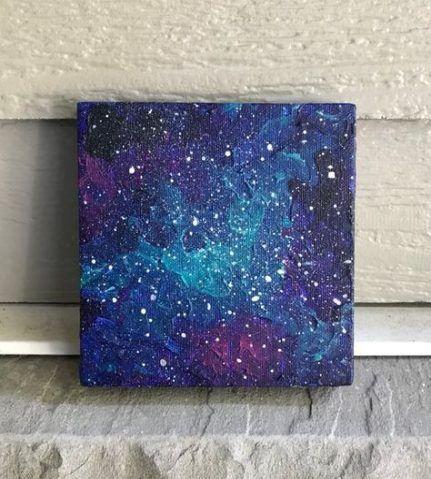 52 Best Ideas For Painting Ideas On Canvas Acrylic Dark Galaxy Painting Small Canvas Art Galaxy Painting Acrylic