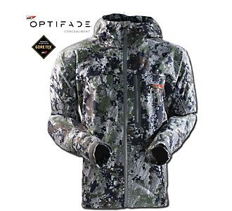 Men S Sitka Gore Optifade Downpour Jacket Scheels Sitka Gear Jackets Hunting Clothes