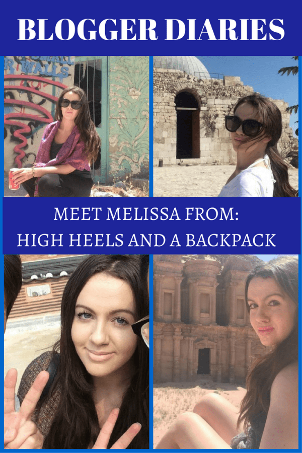 In this edition of Blogger Diaries we interviewed female solo traveler and travel blogger Melissa Douglas from High Heels and a Backpack.
