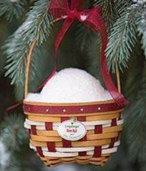 Longaberger Christmas Basket.Longaberger 2017 Tree Trimming Snowball Christmas Basket Set