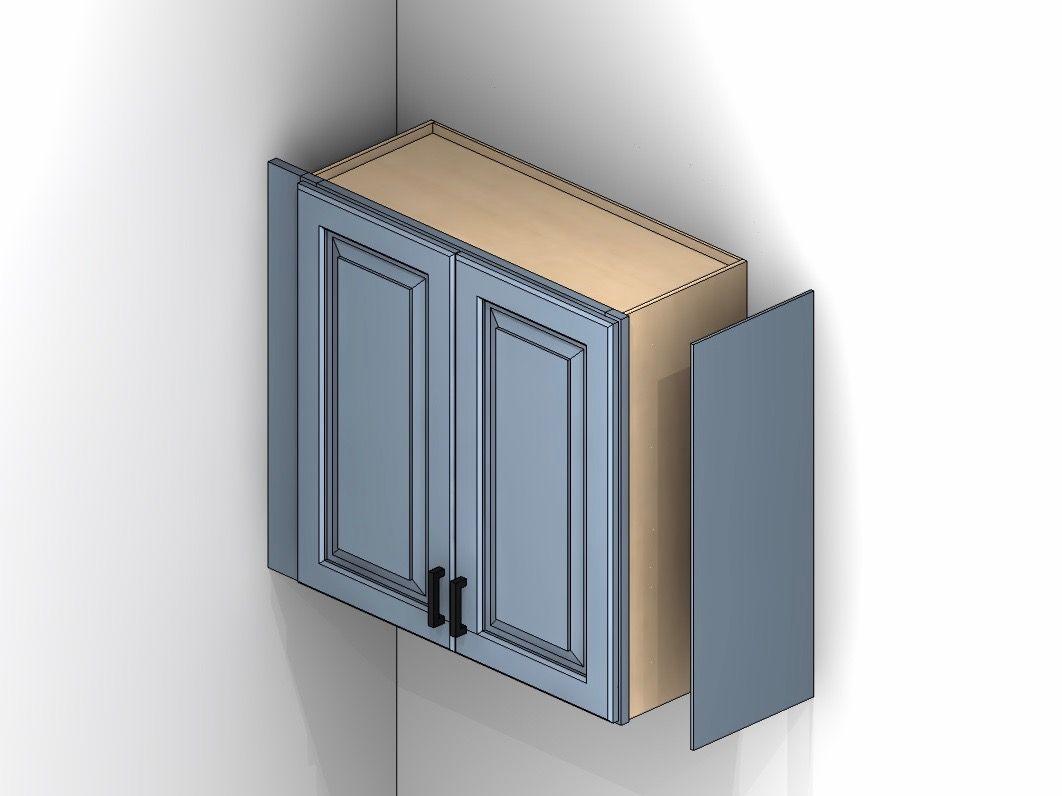 Cabinet Illustration Showing Skins Panels Installing Cabinets Installing Kitchen Cabinets Kitchen Cabinets Upgrade