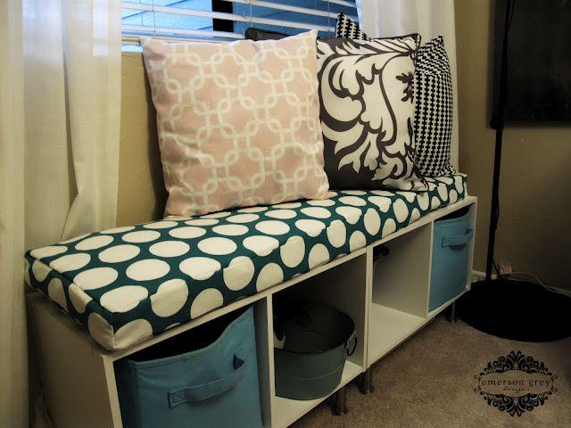 Diy Bench Cushion Great For The Mud Room Diy Home Decor Diy