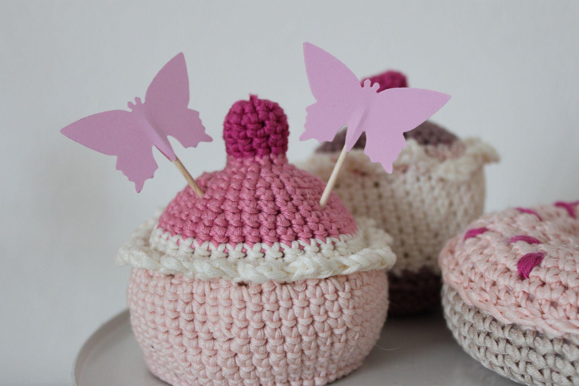 10 décorations papillons roses pour petits gateaux -cupcakes toppers