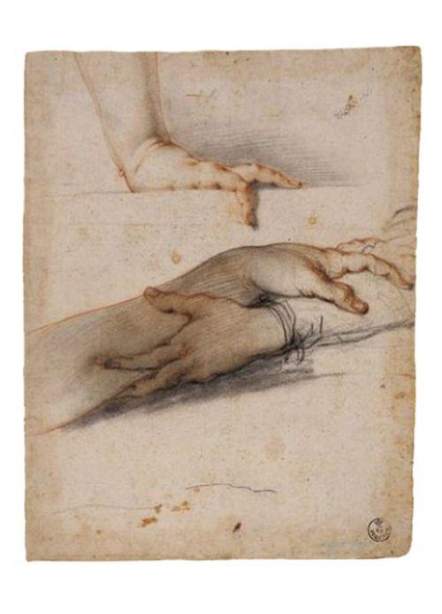Francesco Furini, study of hands, early 17th century.  Firenze Galleria degli Uffizi   #TuscanyAgriturismoGiratola