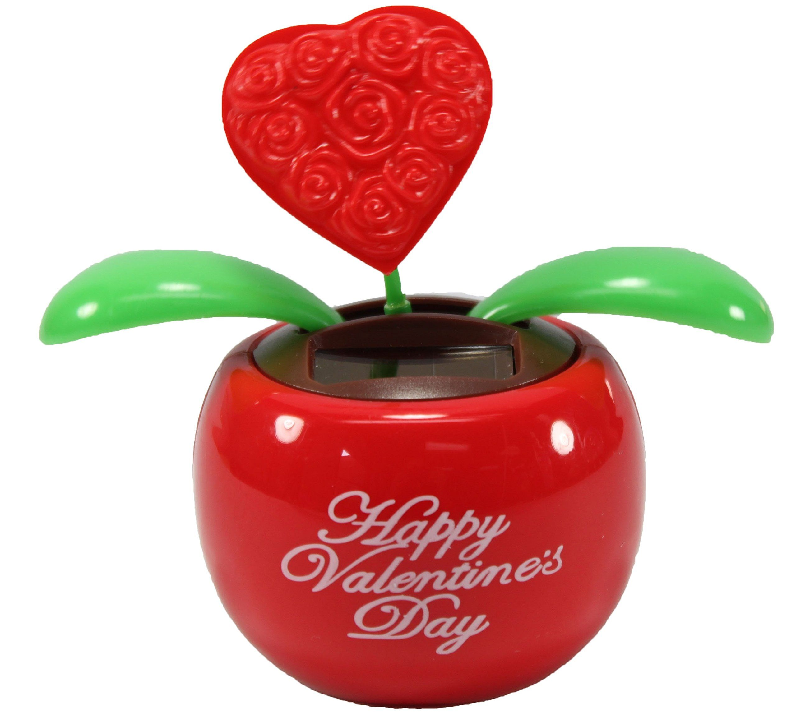 Lovers gift 1 red heart in red pot solar toy valentines