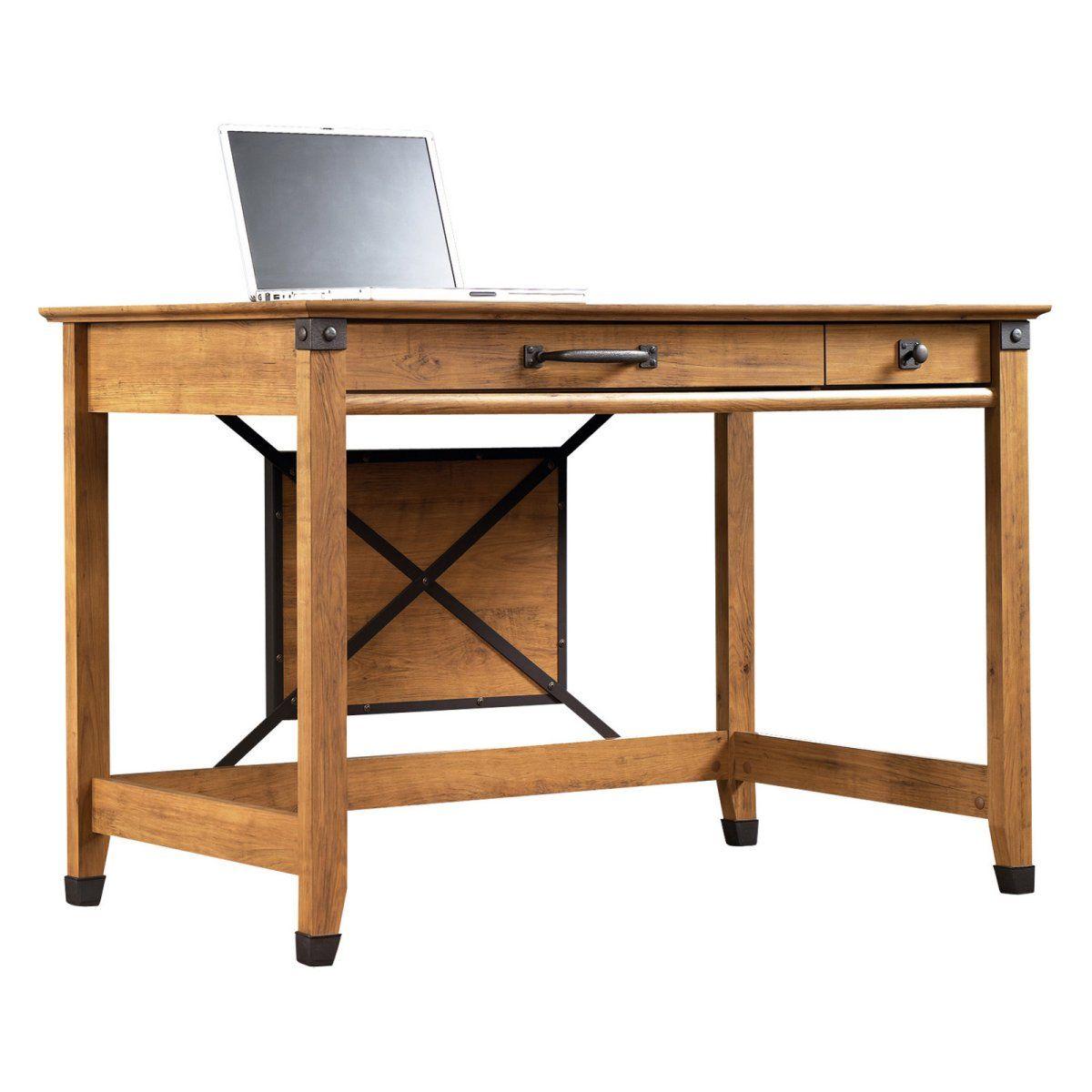 Sauder Registry Row Writing Desk Amber Pine