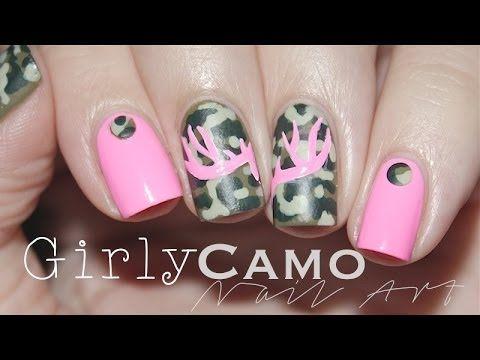 Girly Camo | Nail Art - Girly Camo Nail Art Nails Pinterest Camo Nail Art, Camo