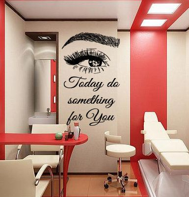 Eyelashes and Eyebrows Wall Decal Lashes and Brows Window | Etsy