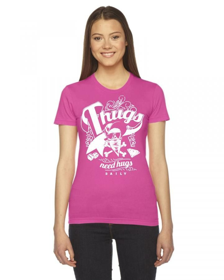 thugs need hugs Ladies Fitted T-Shirt