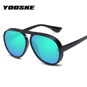 2e89a3eefe YOOSKE Oversized Sunglasses Men Retro Brand Designer Vintage Big Frame Sun  Glasses Female Male Black Sunglass