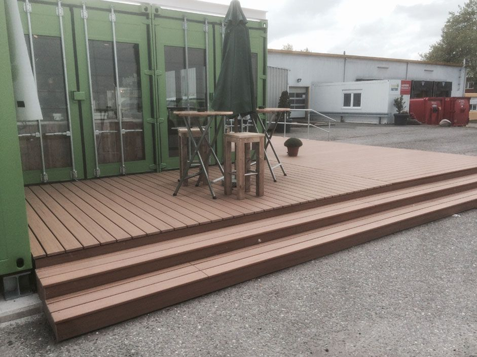 Wpc Balcony Deck Cost Per Square Foot Composite Decking Lowest