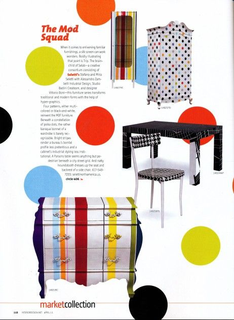 Cassettiera Trip Trumeau By Seletti.Both The Striped Dresser And Polka Dot Armoire Are Wonderful