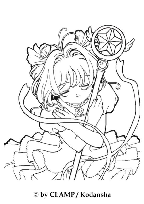 Sakura The Card Captor Coloring Page More Manga Coloring Page On