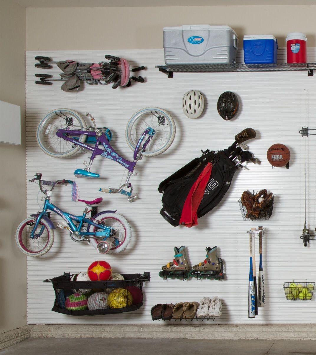 Garage Slatwall Accessories for Sports Equipment Storage
