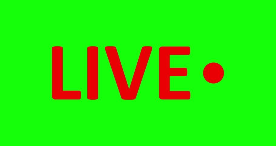 Live Stream Sign. Red Symbol, Stock Footage Video