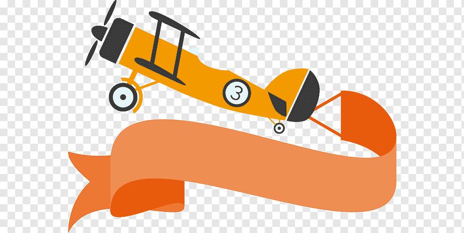 Cartoon Plane Pulling Banner Cartoon Plane Best Banner Design Cartoon Airplane